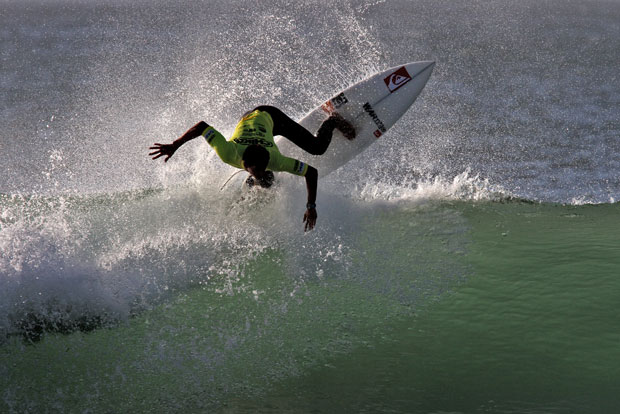 Maxime Huscenot competing in the Pro Junior at Surfest Newcastle Australia 2012. Image: RedMonkey