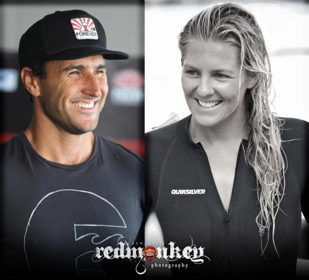 2012 ASP World Champions Joel Parkinson and Stephanie Gilmore.  Image; RedMonkey