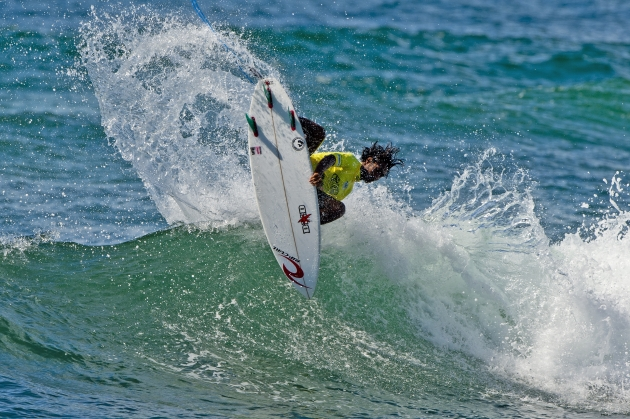 Oney Anwar of Indonesia scored big in his opening round heat at the Burton Toyota Pro